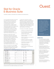 Stat® for Oracle E-Business Suite