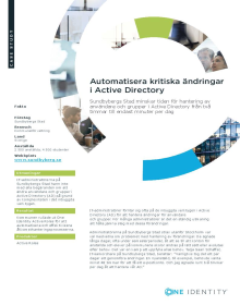 Sundbybergs kommun: Automating critical Active Directory changes (Swedish)