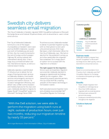 City of Uddevalla: Swedish city delivers seamless email migration