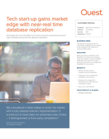 Tech start-up gains market edge with near-real time database replication
