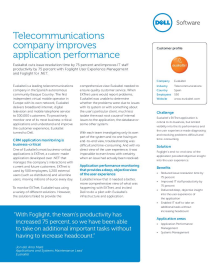 Euskaltel; Telecommunications company improves application performance