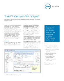 Toad Extension for Eclipse