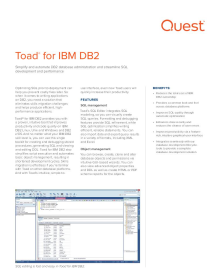 IBM DB2 Database Tools and Administration Software