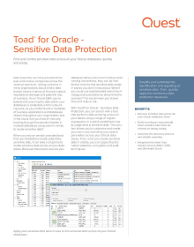 Toad for Oracle Sensitive Data Protection