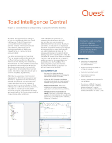 Toad Intelligence Central