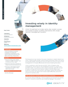 Union Investment: Investing wisely in identity management
