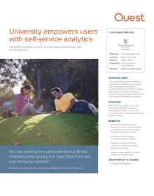 University empowers users with self-service analytics