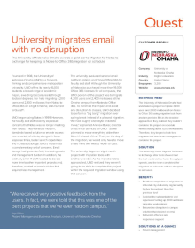 University of Nebraska Omaha: University migrates email with no disruption