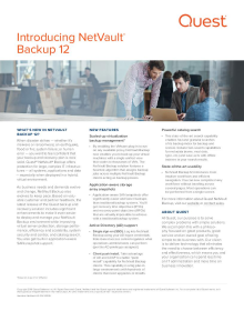 What's New in NetVault Backup 12.0