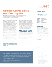 Wiltshire Council: Wiltshire Council enjoys seamless migration to Exchange