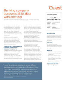 Zions Bancorporation: Banking company accesses all its data with one tool