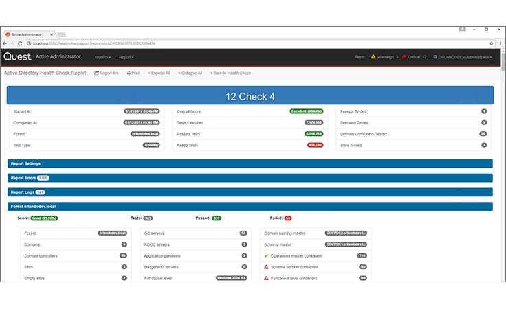 Active Directory Health Check, Monitoring & Diagnostics