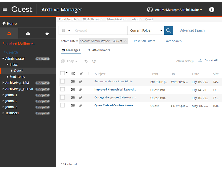 Exchange Email Archiving Software