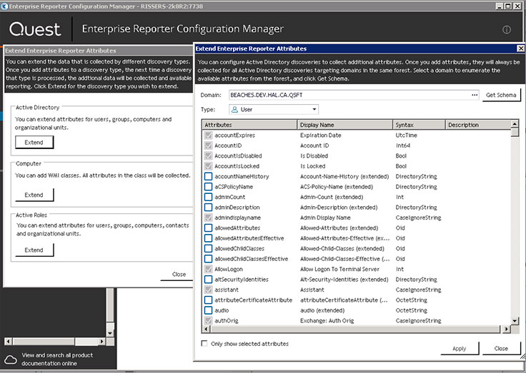 Enterprise Reporter Suite