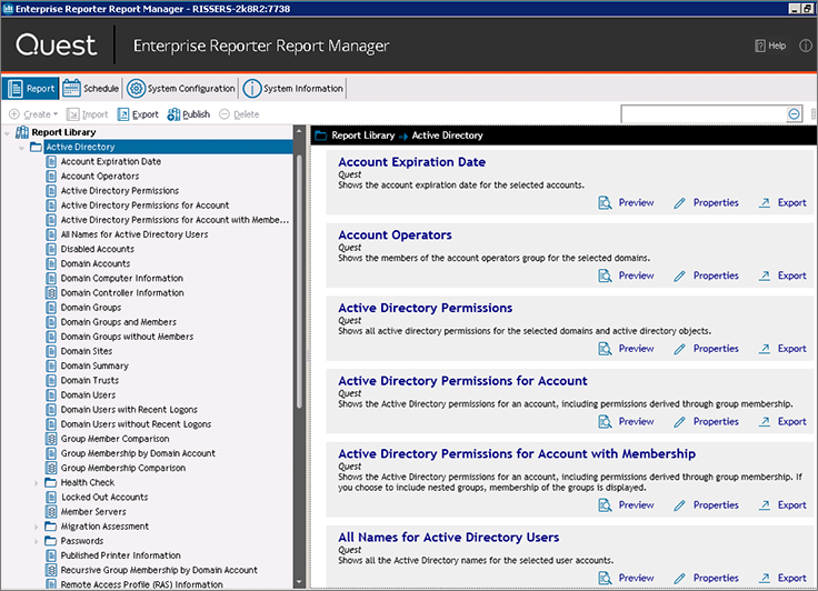 Active Directory Reporting and Discovery Software