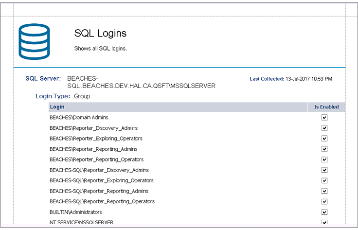 SQL Server Auditing and Reporting