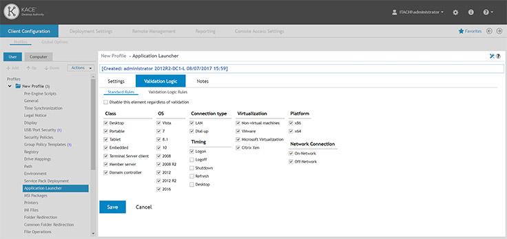 Desktop management software for Windows