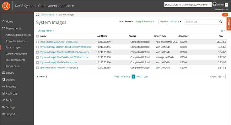 KACE Systems Deployment Appliance   OS Deployment Software
