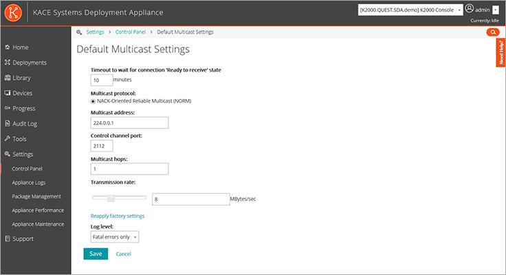 KACE Systems Deployment Appliance | OS Deployment Software