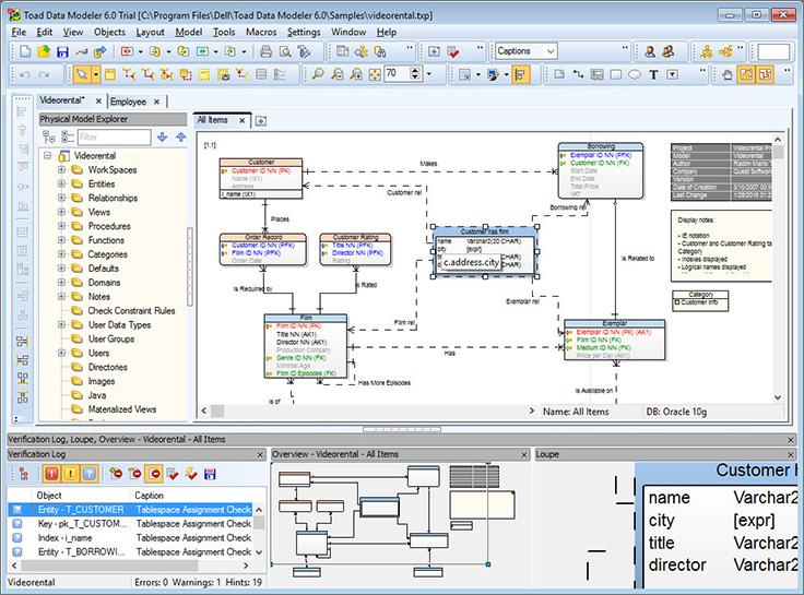 Toad Data Modeler screenshot