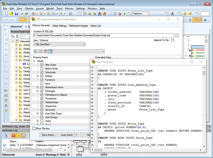 Database Modeling Tools and Database Design Software