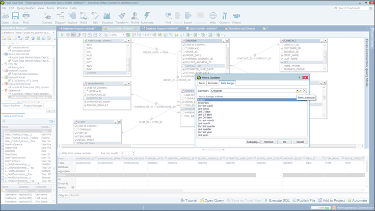 Query and Reporting Software Tool   Toad Data Point