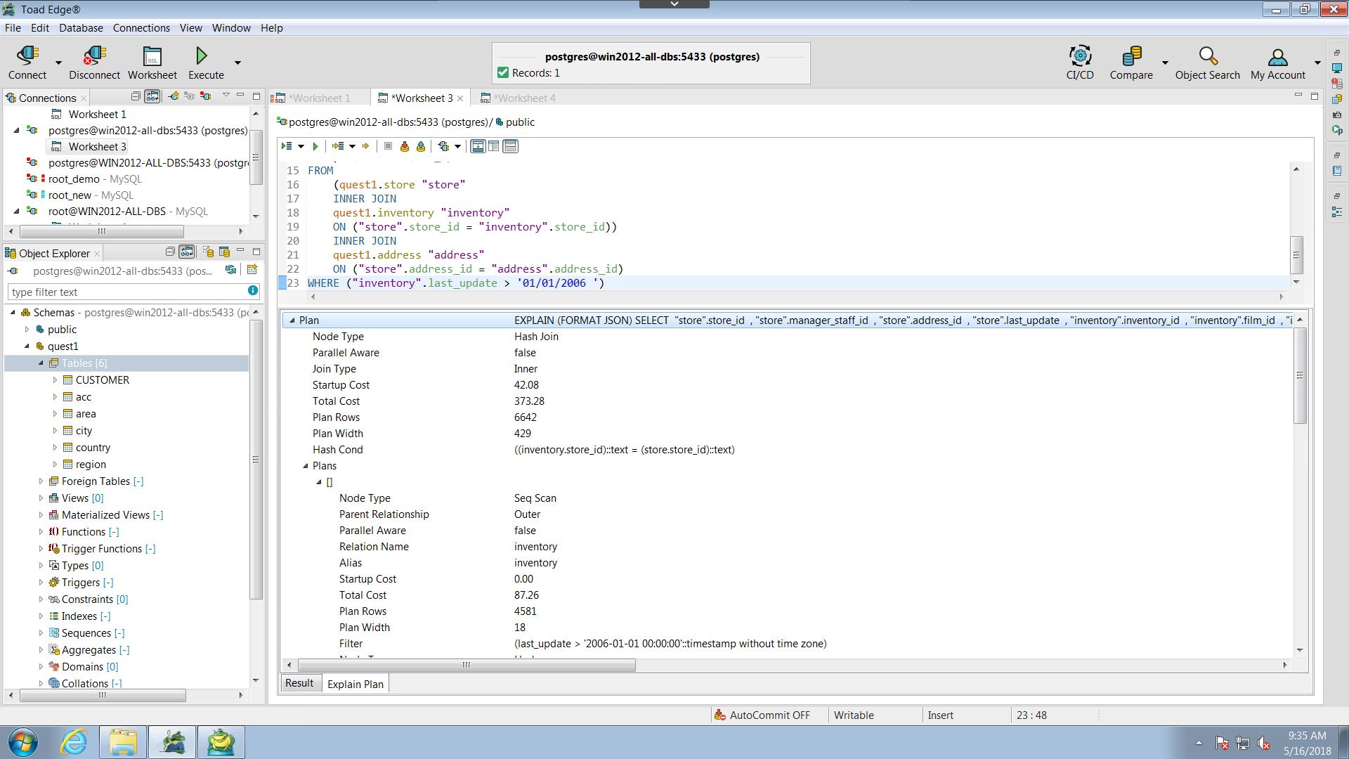 Postgres database admin | Toad Edge for Postgres