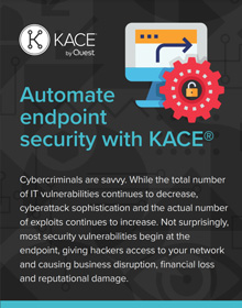Automate endpoint security with KACE