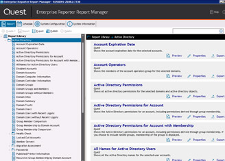 Enterprise Reporter for Active Directory