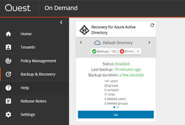 On Demand Recovery for Azure Active Directory