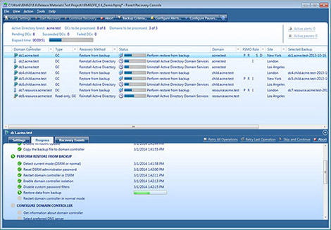 Recovery Manager for Active Directory Forest Edition