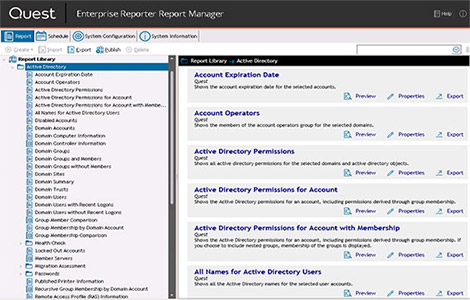 Enterprise Reporter Active Directory Report Library