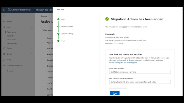 Administrator accounts in On Demand Migration