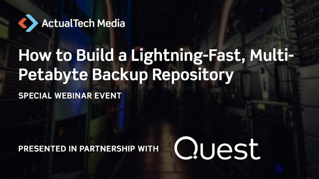 How to Build a Lightning-Fast, Multi-Petabyte Backup Repository