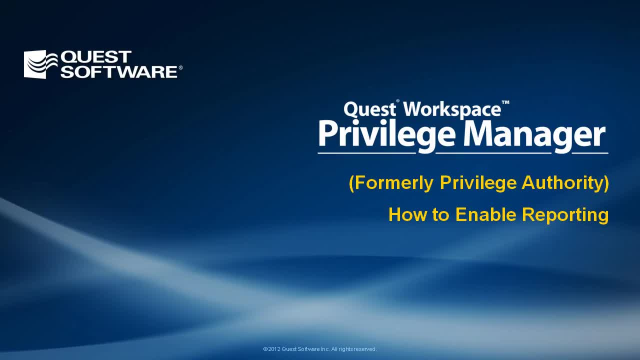 How to Enable Reporting in Privilege Manager