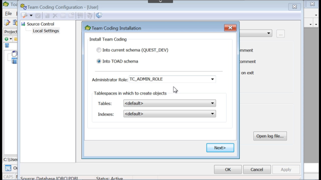 How to integrate source control into Toad for Oracle