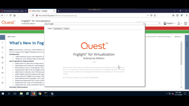 How to upgrade from Foglight for Virtualization  8.8.5 to Foglight Evolve
