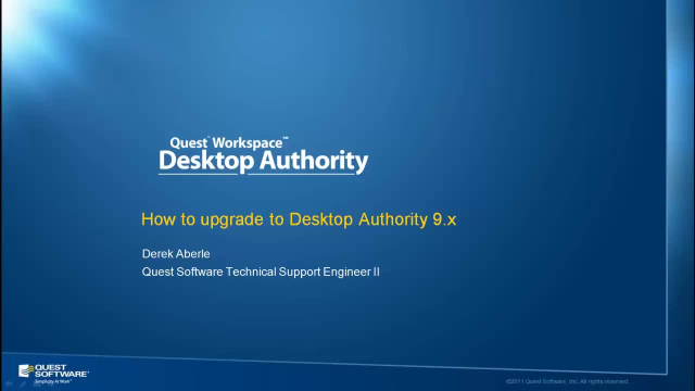 How to Upgrade to Desktop Authority Version 9