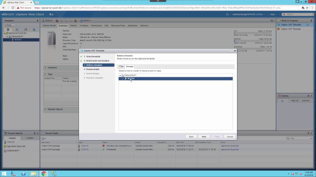 Importing Threat Detection using VMWare vSphere vCenter Server