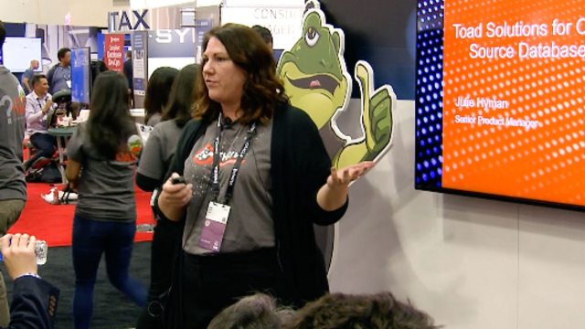 Julie Hyman presents Toad Solutions for Open Source Databases at Oracle OpenWorld