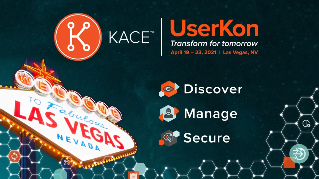 Transform for Tomorrow at Quest KACE UserKon 2021!