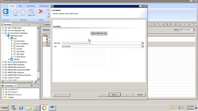 Migrating documents from SharePoint 2010 to 2013 with Migration Suite for SharePoint