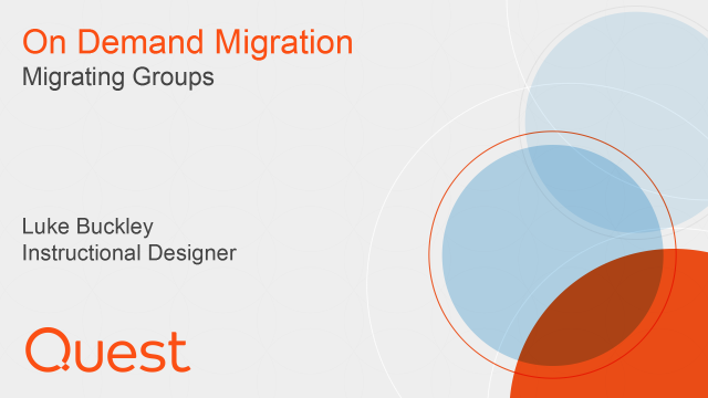 Migrating Groups in On Demand Migration