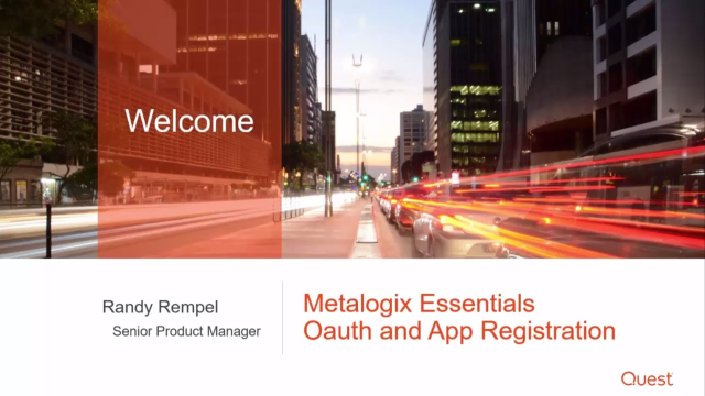 OAuth and app registration with Metalogix Essentials