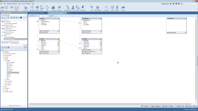 Overview of the diagram tool in Toad Data Point
