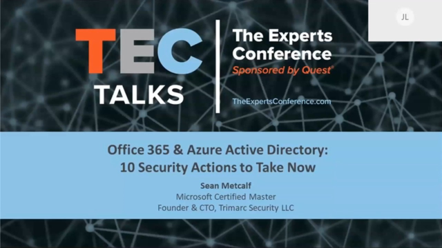 TEC TALK - Office 365 & Azure Active Directory Security | Quest