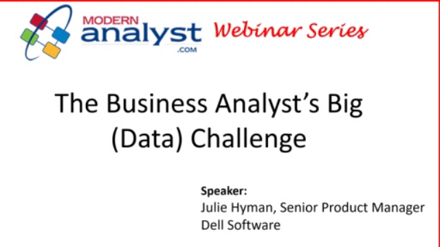 The Business Analyst's Big (Data) Challenge