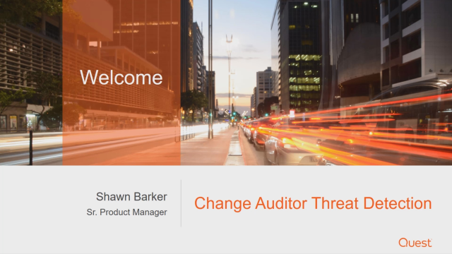 Introducing Change Auditor Threat Detection