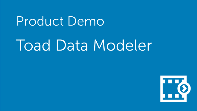 Toad Data Modeler - Introduction