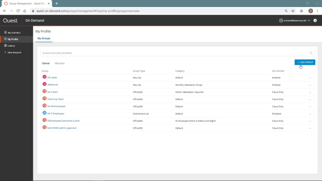Using the My Profile page in the Self-Service Portal of On Demand Group Management